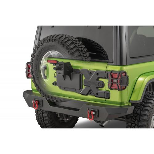Усиленное крепление запасного колеса (калитка) Rugged Ridge 11546.55 Spartacus HD для  Jeep Wrangler JL 2018-2020.