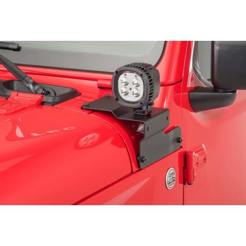 Кронштейны (крепления) дополнительного света JEEPcustom для Jeep Wrangler JL, JT 2018-2020